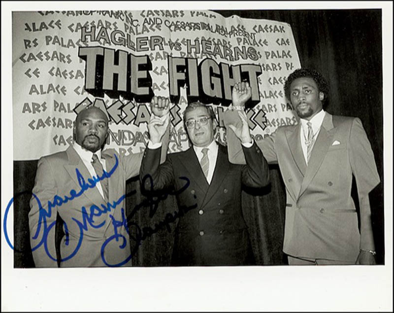 Image 1 for Marvelous Marvin Hagler - Autographed Signed Photograph - HFSID 274354