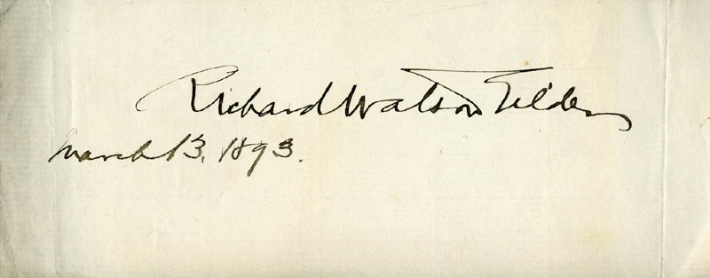 Image 1 for Richard Watson Gilder - Autograph 03/13/1893 - HFSID 274551