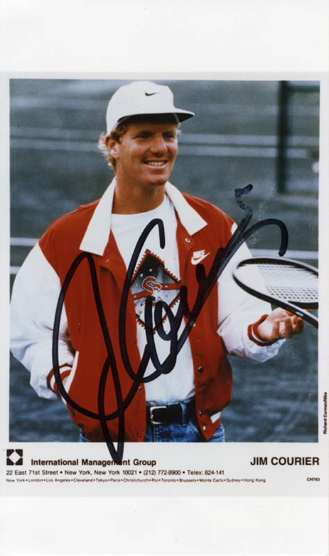 Image 1 for Jim Courier - Autographed Signed Photograph - HFSID 274689