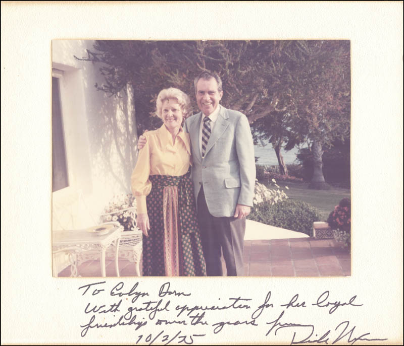 Image 1 for President Richard M. Nixon - Inscribed Photograph Mount Signed 10/02/1975 - HFSID 274695