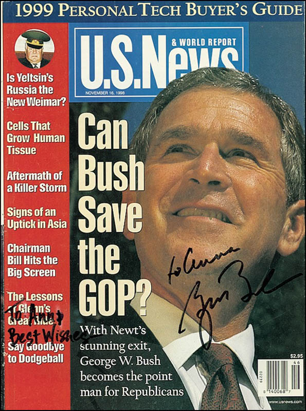 Image 1 for President George W. Bush - Inscribed Magazine Cover Signed - HFSID 274854