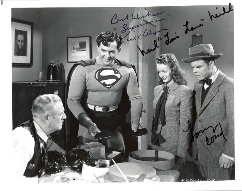 Image 1 for Superman Movie Cast - Autographed Signed Photograph co-signed by: Tommy 'Butch' Bond, Noel Neill, Kirk Alyn - HFSID 274912