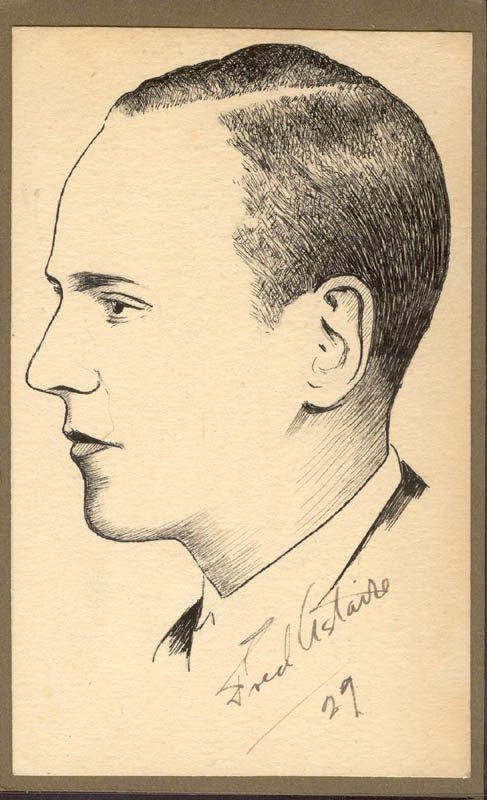 Image 1 for Robert L Whittington - Original Art Unsigned 1929 But Signed By Fred Astaire - HFSID 274953