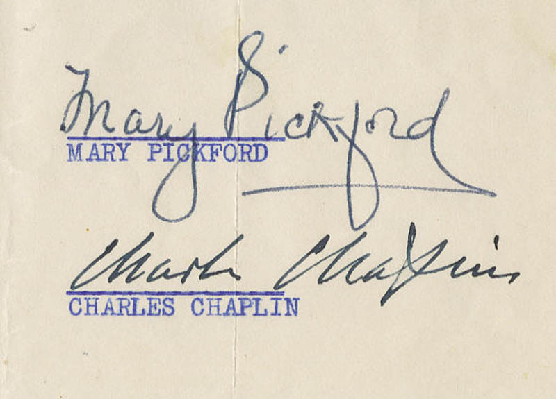 Image 3 for Charlie 'The Little Tramp' Chaplin - Typed Letter Signed 05/24/1949 co-signed by: Mary Pickford - HFSID 274970