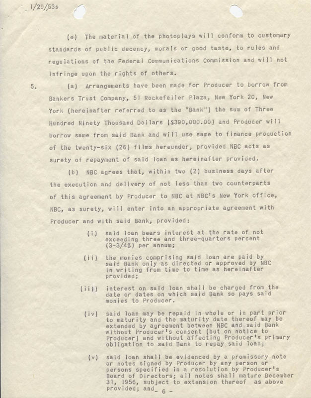 Image 8 for Abbott & Costello (Lou Costello) - Contract Signed 12/15/1952 - HFSID 274973