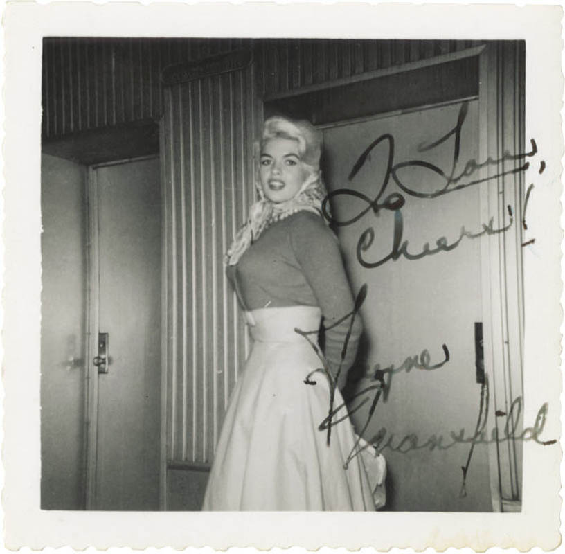 Image 1 for Jayne Mansfield - Autographed Inscribed Photograph - HFSID 275006