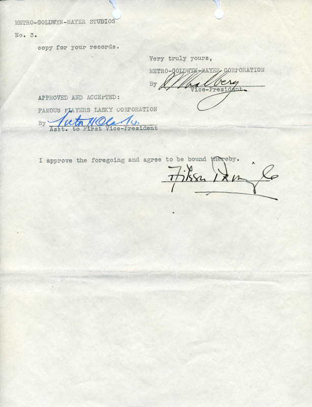 Image 1 for Irving Thalberg - Typed Letter Signed 12/15/1924 co-signed by: Aileen Pringle - HFSID 275020