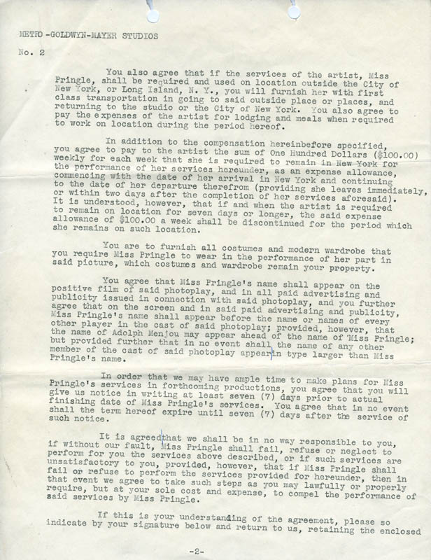 Image 4 for Irving Thalberg - Typed Letter Signed 12/15/1924 co-signed by: Aileen Pringle - HFSID 275020