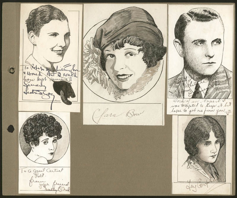 Image 1 for Robert L Whittington - Original Art Unsigned But Signed By Isabel Jeans, Sally O'Neil, Milton Sills, Clara Bow, Fay Compton, Betty Balfour, Edmund Burns, Mae Busch - HFSID 275036