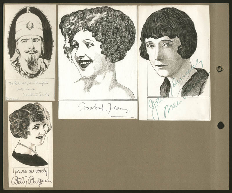 Image 3 for Robert L Whittington - Original Art Unsigned But Signed By Isabel Jeans, Sally O'Neil, Milton Sills, Clara Bow, Fay Compton, Betty Balfour, Edmund Burns, Mae Busch - HFSID 275036