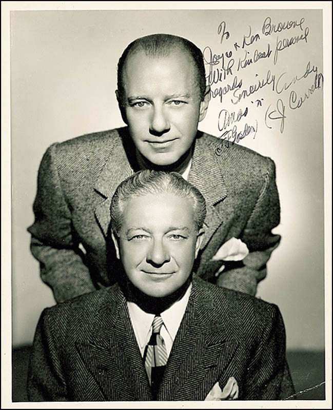 The Amos \'n\' Andy Radio Cast - Inscribed Photograph Signed with ...