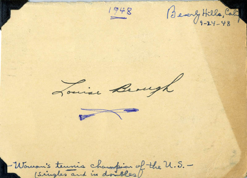 Image 1 for Louise (Althea Louise) Brough Clapp - Autograph Circa 1948 - HFSID 275200