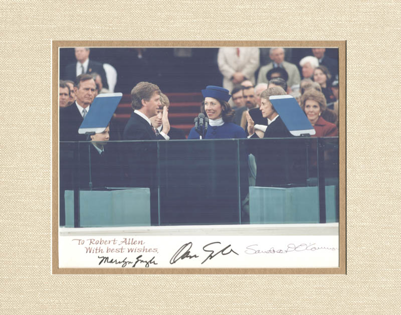 Image 1 for Vice President Dan (James Danforth) Quayle - Autographed Inscribed Photograph with co-signers - HFSID 275212