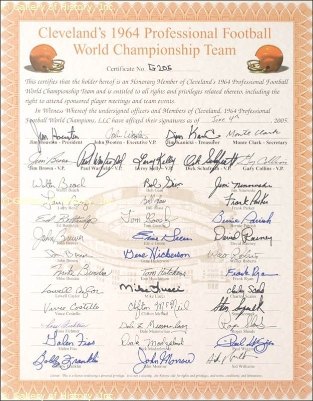 Image 4 for Cleveland Browns - Document Signed 06/04/2005 with co-signers - HFSID 275257