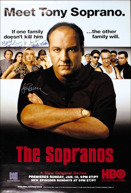 Image 1 for The Sopranos TV Cast - Autographed Signed Poster with co-signers - HFSID 275273