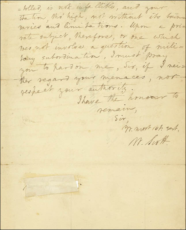 Image 1 for Lt. General Winfield Scott - Autograph Letter Signed 07/21/1812 - HFSID 275357