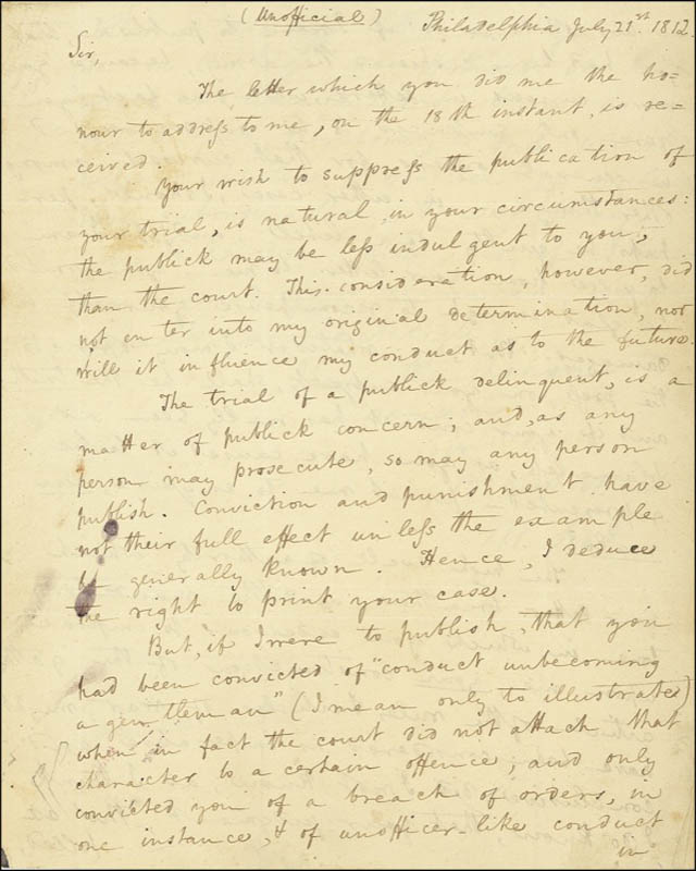 Image 3 for Lt. General Winfield Scott - Autograph Letter Signed 07/21/1812 - HFSID 275357