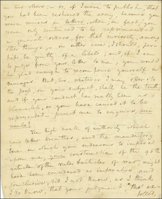 Image 4 for Lt. General Winfield Scott - Autograph Letter Signed 07/21/1812 - HFSID 275357