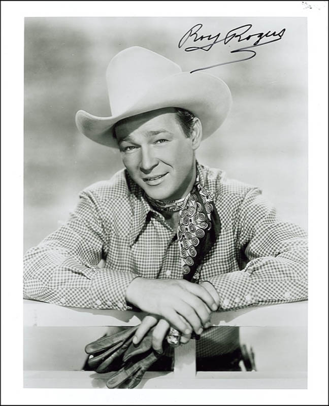 5fb4cb9d582 ROY ROGERS - PHOTOGRAPH SIGNED - DOCUMENT 275380