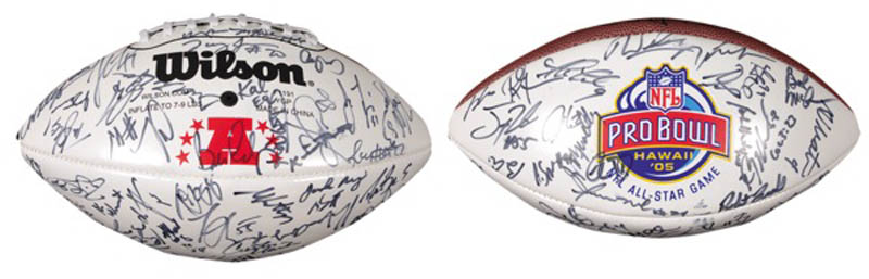 Image 1 for Nfl All Star Probowl - Football Signed Circa 2005 with co-signers - HFSID 275396