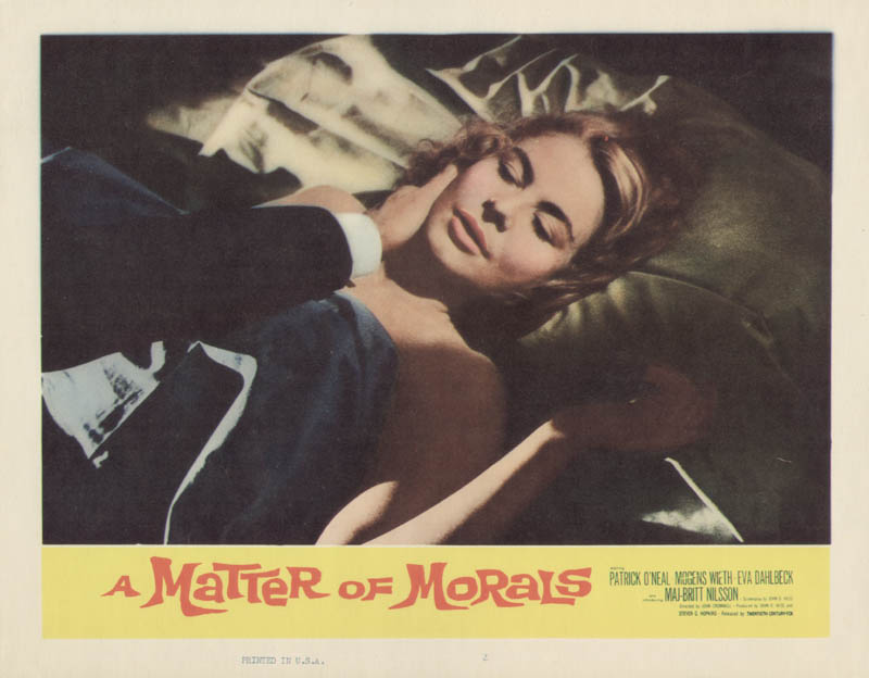Image 1 for A Matter Of Morals Movie Cast - Lobby Card Unsigned (Usa) 1960 - HFSID 275426