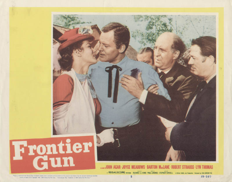 Image 1 for Frontier Gun Movie Cast - Lobby Card Unsigned (Usa) 1958 - HFSID 275434