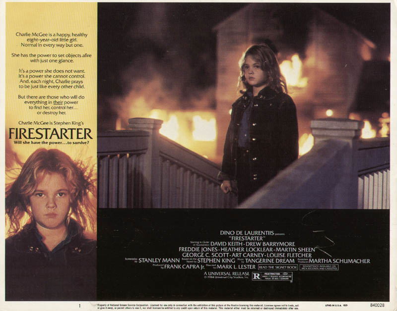 Image 1 for Firestarter Movie Cast - Lobby Card Unsigned (Usa) 1984 - HFSID 275465