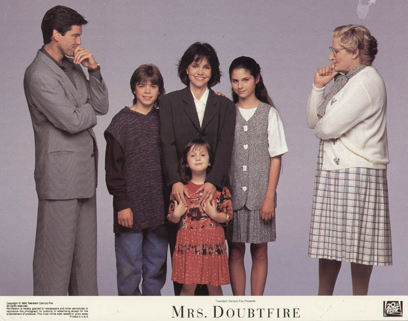 Image 1 for Mrs. Doubtfire Movie Cast - Lobby Card Unsigned (Usa) 1993 - HFSID 275589