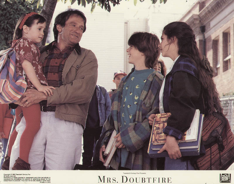 Image 1 for Mrs. Doubtfire Movie Cast - Lobby Card Unsigned (Usa) 1993 - HFSID 275591