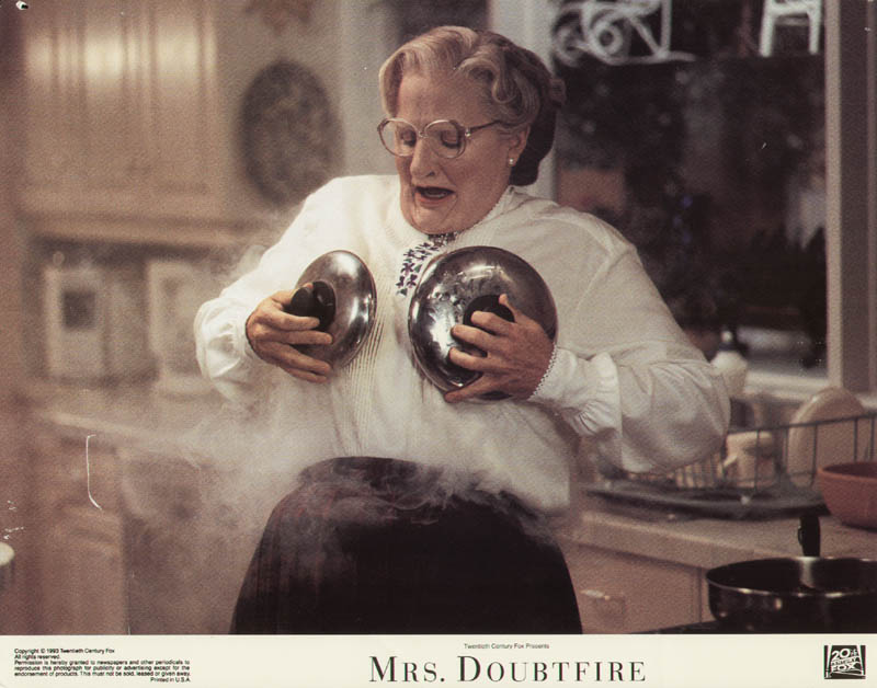 Image 1 for Mrs. Doubtfire Movie Cast - Lobby Card Unsigned (Usa) 1993 - HFSID 275593