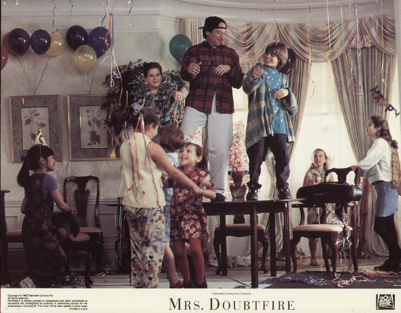 Image 1 for Mrs. Doubtfire Movie Cast - Lobby Card Unsigned (Usa) 1993 - HFSID 275612