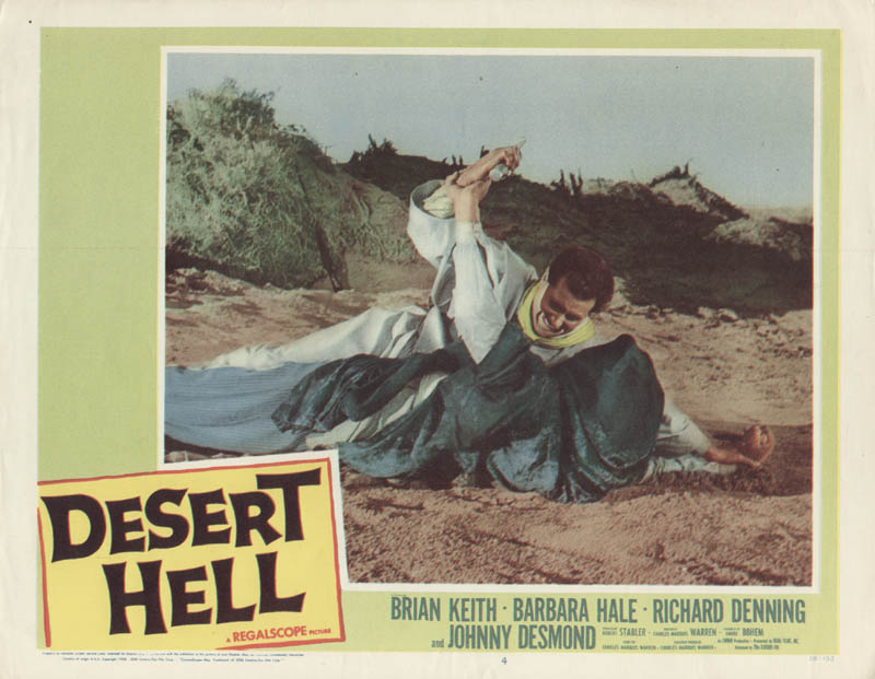 Image 1 for Desert Hell Movie Cast - Lobby Card Unsigned (Usa) 1958 - HFSID 275690