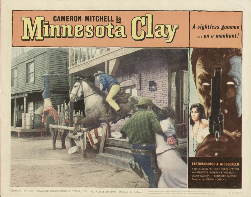 Image 1 for Minnesota Clay Movie Cast - Lobby Card Unsigned (Usa) 1965 - HFSID 275783