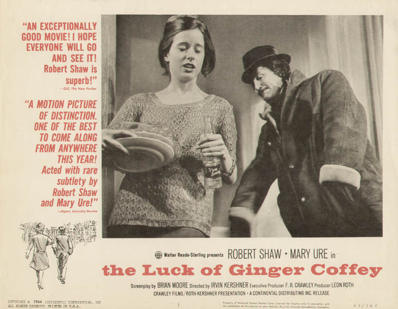 Image 1 for The Luck Of Ginger Coffey Movie Cast - Lobby Card Unsigned (Usa) 1964 - HFSID 275810