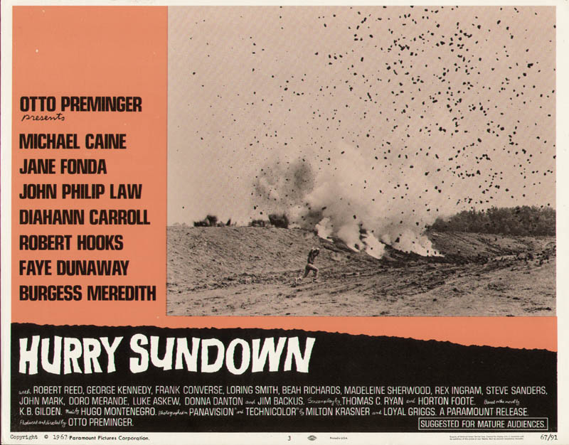 Image 1 for Hurry Sundown Movie Cast - Lobby Card Unsigned (Usa) 1967 - HFSID 275821
