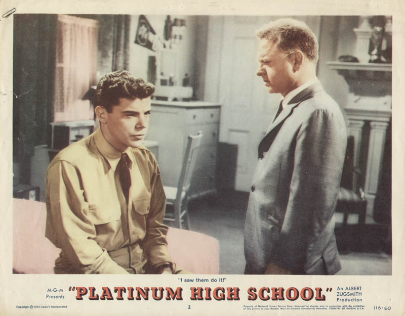 Image 1 for Platinum High School Movie Cast - Lobby Card Unsigned (Usa) 1960 - HFSID 275847