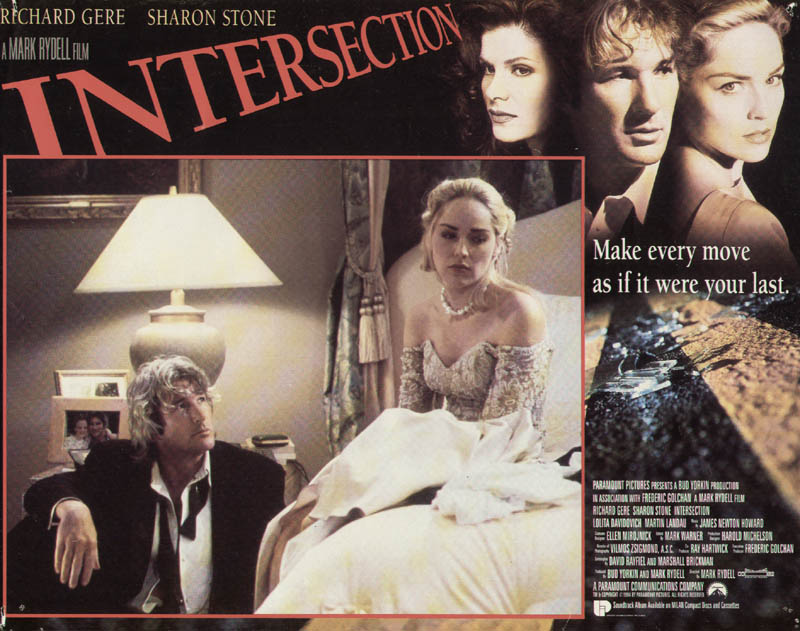 Image 1 for Intersection Movie Cast - Lobby Card Unsigned (Usa) 1994 - HFSID 275878