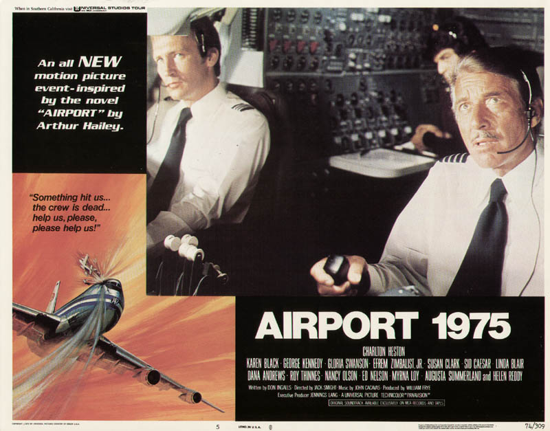 Image 1 for Airport 1975 Movie Cast - Lobby Card Unsigned (Usa) 1974 - HFSID 275995