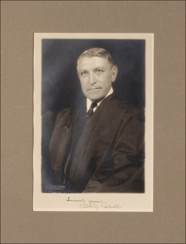 Image 1 for Associate Justice Owen J. Roberts - Autographed Signed Photograph - HFSID 276033