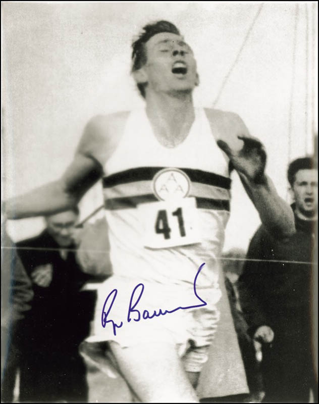 Image 1 for Roger G. Bannister - Autographed Signed Photograph - HFSID 276059