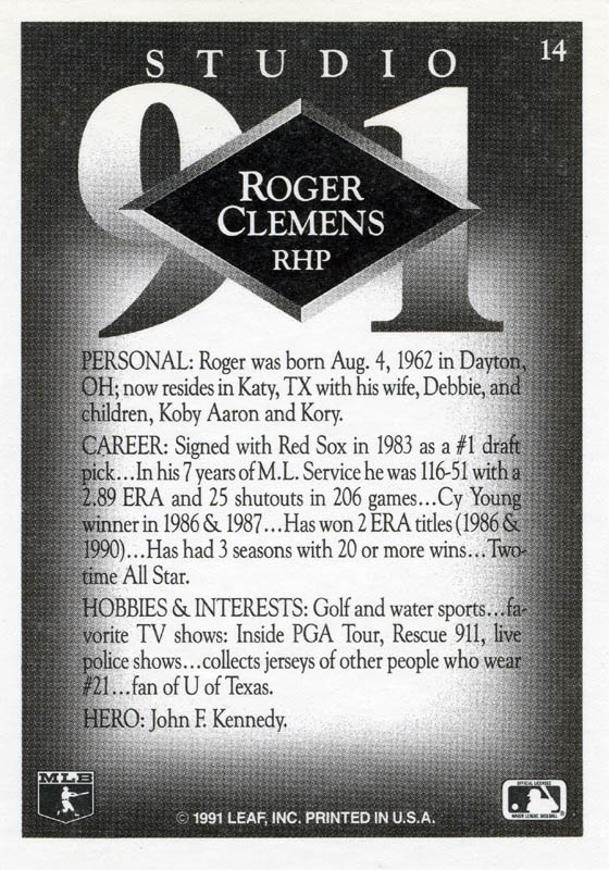 Image 3 for Roger Clemens - Trading/Sports Card Signed - HFSID 276069
