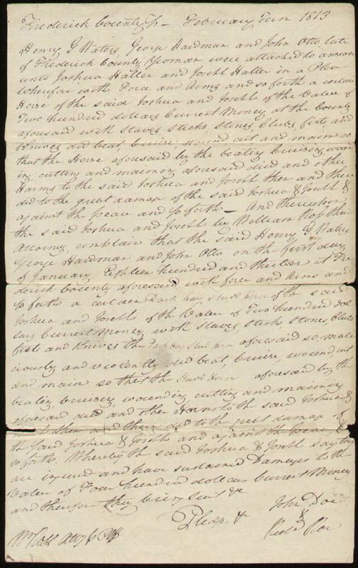Image 3 for Chief Justice Roger B. Taney - Document Signed 02/21/1813 - HFSID 27616