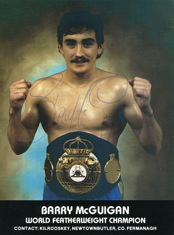 Image 1 for Barry Mcguigan - Autographed Signed Photograph - HFSID 276235
