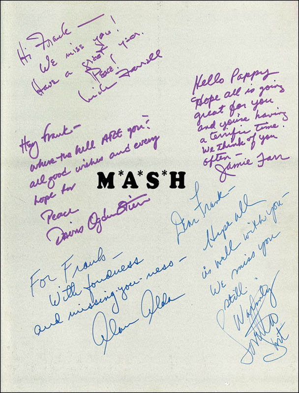 Image 4 for M*a*s*h TV Cast - Inscribed Book Signed with co-signers - HFSID 276314