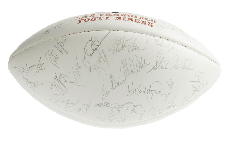 Image 3 for The San Francisco Forty Niners - Football Signed with co-signers - HFSID 276323