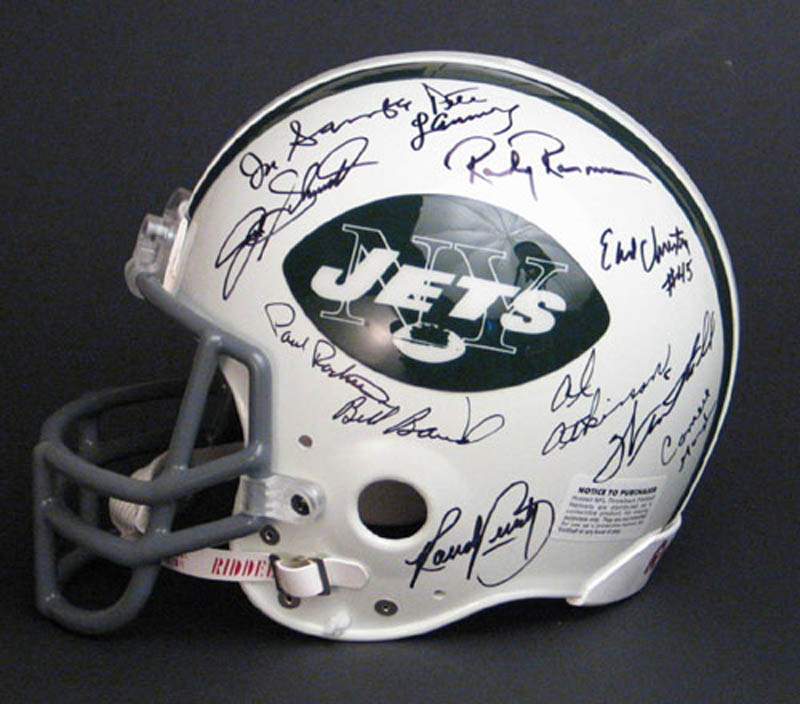Image 3 for New York Jets - Helmet Signed Circa 1969 with co-signers - HFSID 276327