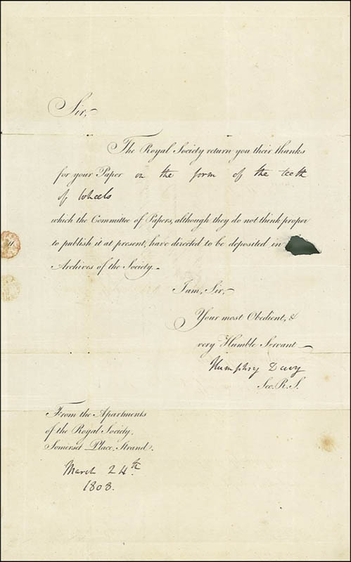 Image 1 for Sir Humphry Davy - Document Signed 08/24/1808 - HFSID 276383