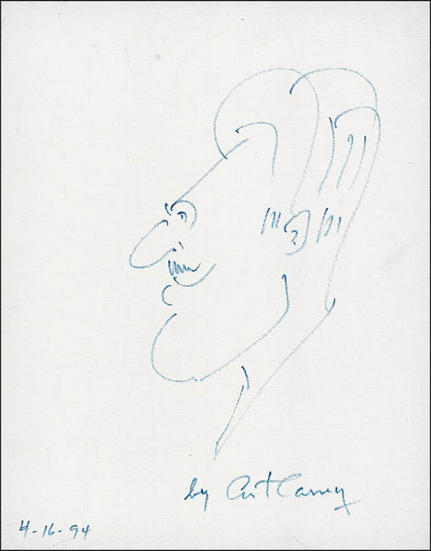 Image 1 for Art Carney - Self-caricature Signed 04/16/1994 - HFSID 276596