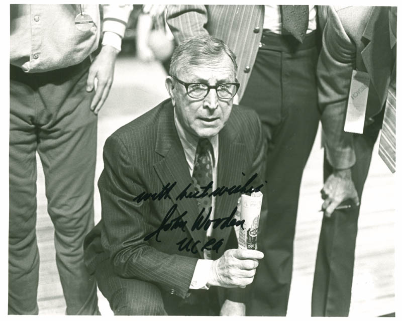 Image 1 for John Wooden - Autographed Signed Photograph - HFSID 276616