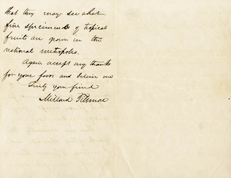 Image 3 for President Millard Fillmore - Autograph Letter Signed - HFSID 27661